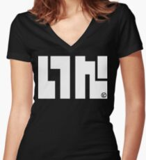 SquidForce Black Tee Women's Fitted V-Neck T-Shirt