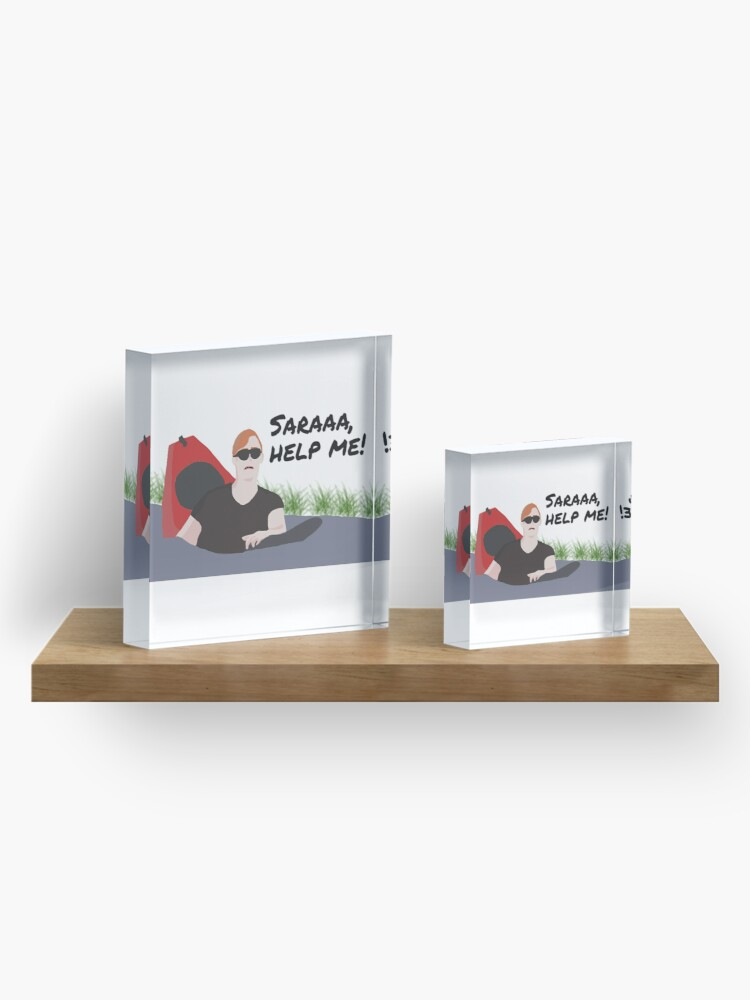 Alternate view of Saraaa, help me! Acrylic Block
