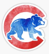 Watercolor Cubs Sticker