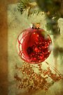 Antiqued Red Ornament by Colleen Drew