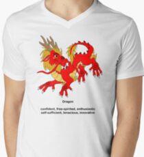 Chinese Zodiac Tee--Year of the Dragon Men's V-Neck T-Shirt