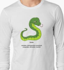 Chinese Zodiac Tee--Year of the Snake Long Sleeve T-Shirt