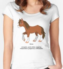 Chinese Zodiac Tee--Year of the Horse Women's Fitted Scoop T-Shirt