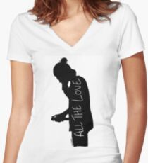 Harry Silhouette Women's Fitted V-Neck T-Shirt