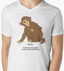 Chinese Zodiac Tee--Year of the Monkey Men's V-Neck T-Shirt