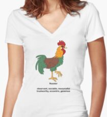 Chinese Zodiac Tee--Year of the Rooster Women's Fitted V-Neck T-Shirt