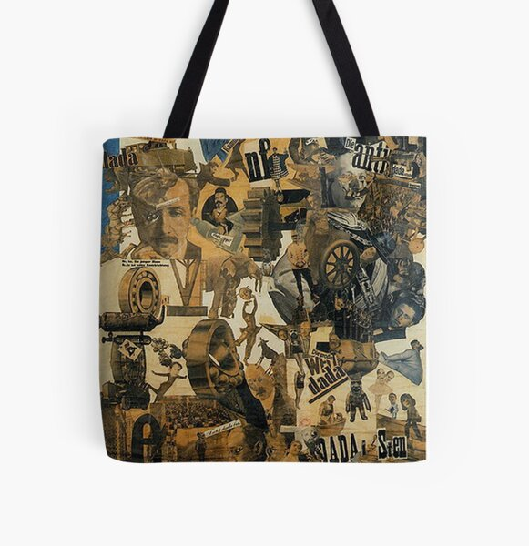 Favourite Artist -  Hannah Hoch - Cut with the kitchen Knife through the beer belly of the Weimer republic All Over Print Tote Bag