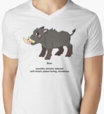 Chinese Zodiac Tee--Year of the Boar Men's V-Neck T-Shirt