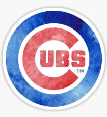 Watercolor Chicago Cubs Sticker