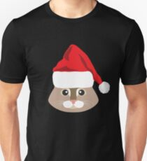 Maine Coon Cat Santa Hat T-Shirt Cat Lover Christmas Gift Unisex T-Shirt