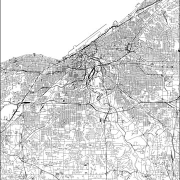 Cleveland White Map von multiplicitymap