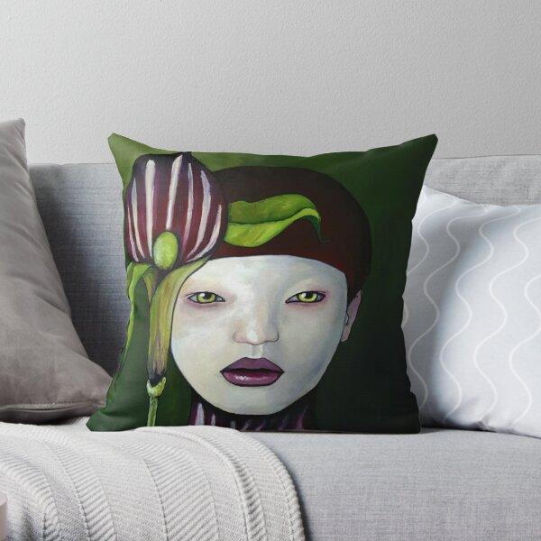Arisaema Candidissimum Throw Pillow