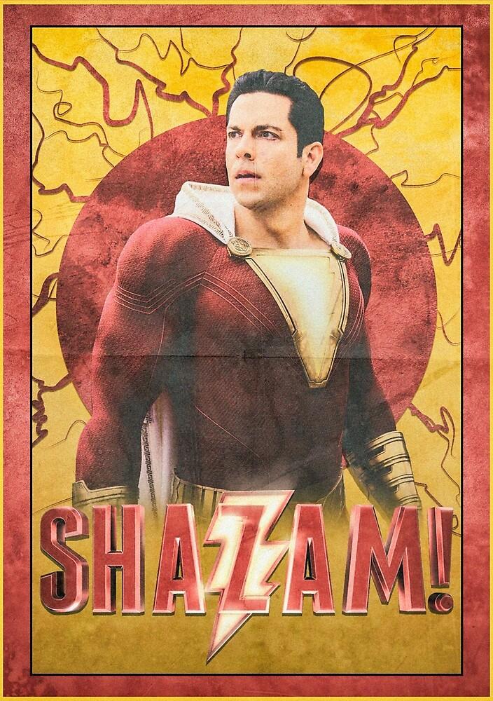 Shazam! Film Poster by BarrettDigital