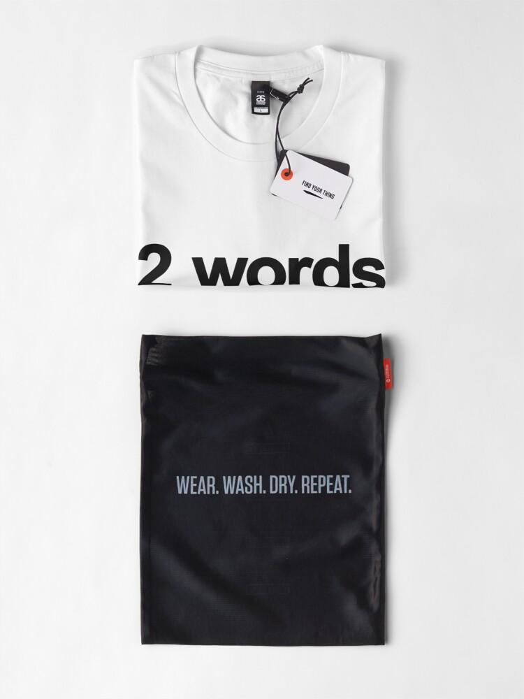 Alternate view of Two Words One Finger Premium T-Shirt