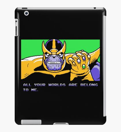 All Your Worlds Are Belong To Me iPad Case/Skin