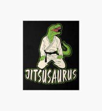 Jiu Jitsu Martial Art Dinosaur Fighter Gift Art Board