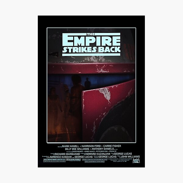 """FAN ART: """"The Empire Strikes Back"""" Poster Photographic Print"""