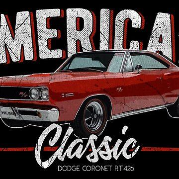 American Classic Retro Car by EddieBalevo