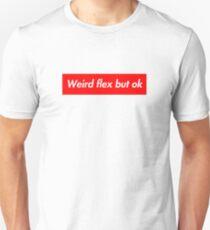 weird flex but ok meme - funny box logo parody tee t-shirt Slim Fit T-Shirt