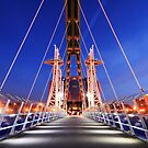 Evening on the Millennium Bridge, Salford Quays by Robin Whalley