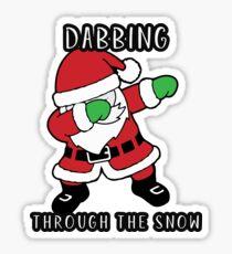 Stickers Sur Le Thème Dab Père Noël Redbubble