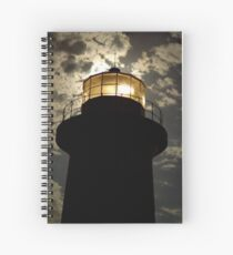Light House by the Moon Light Spiral Notebook