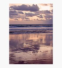 beach reflections... Photographic Print