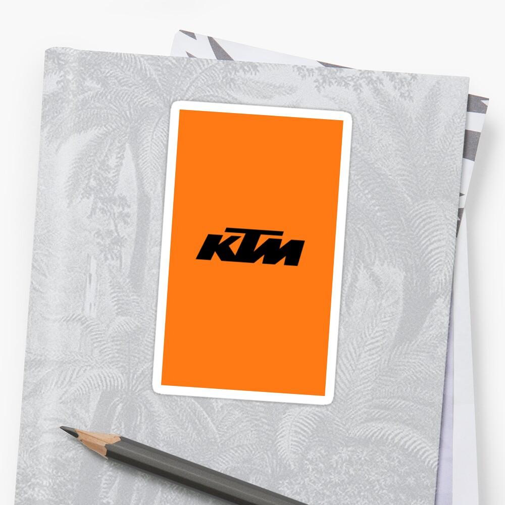 KTM Racing Sticker
