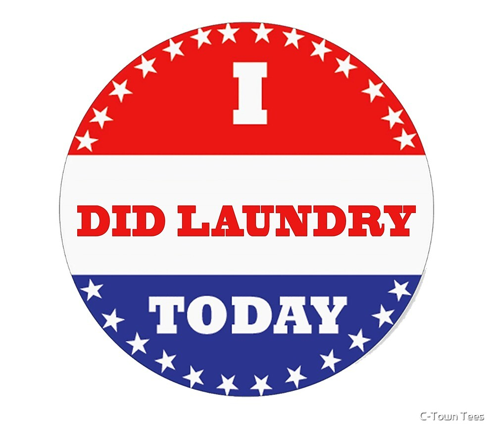 Voting Stickers - I Did Laundry Today  by Klay70