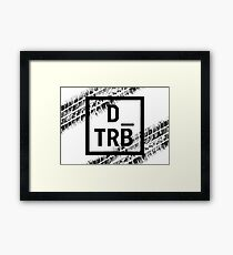 Drive Tribe Tyre Marks  Framed Print
