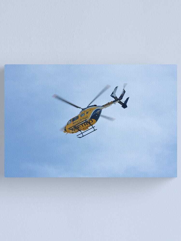 Alternate view of Life Flight Helicopter Canvas Print