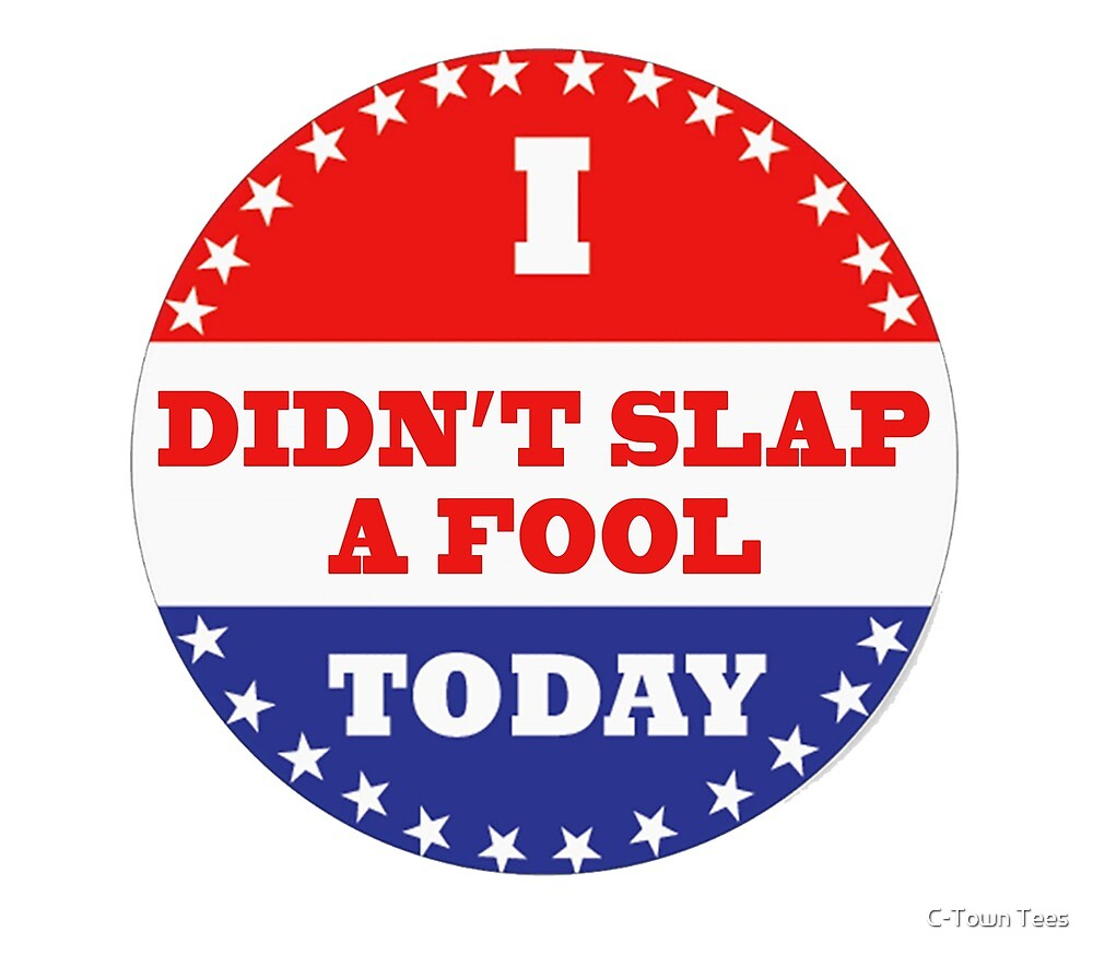 Voting Stickers - I Didn't Slap A Fool Today  by Klay70
