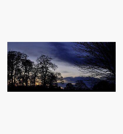 Autumn Evening View. Photographic Print
