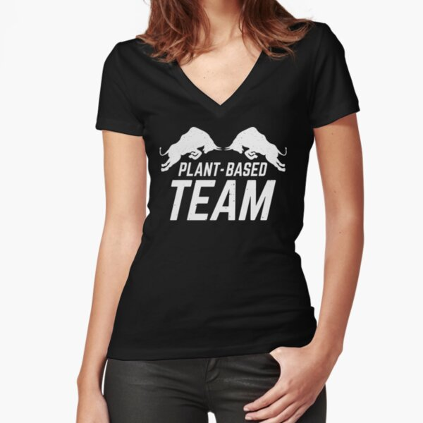 Plant-based Team Fitted V-Neck T-Shirt