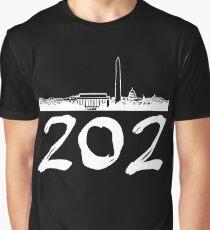 Washington D.C. - 202 (White Logo) Graphic T-Shirt