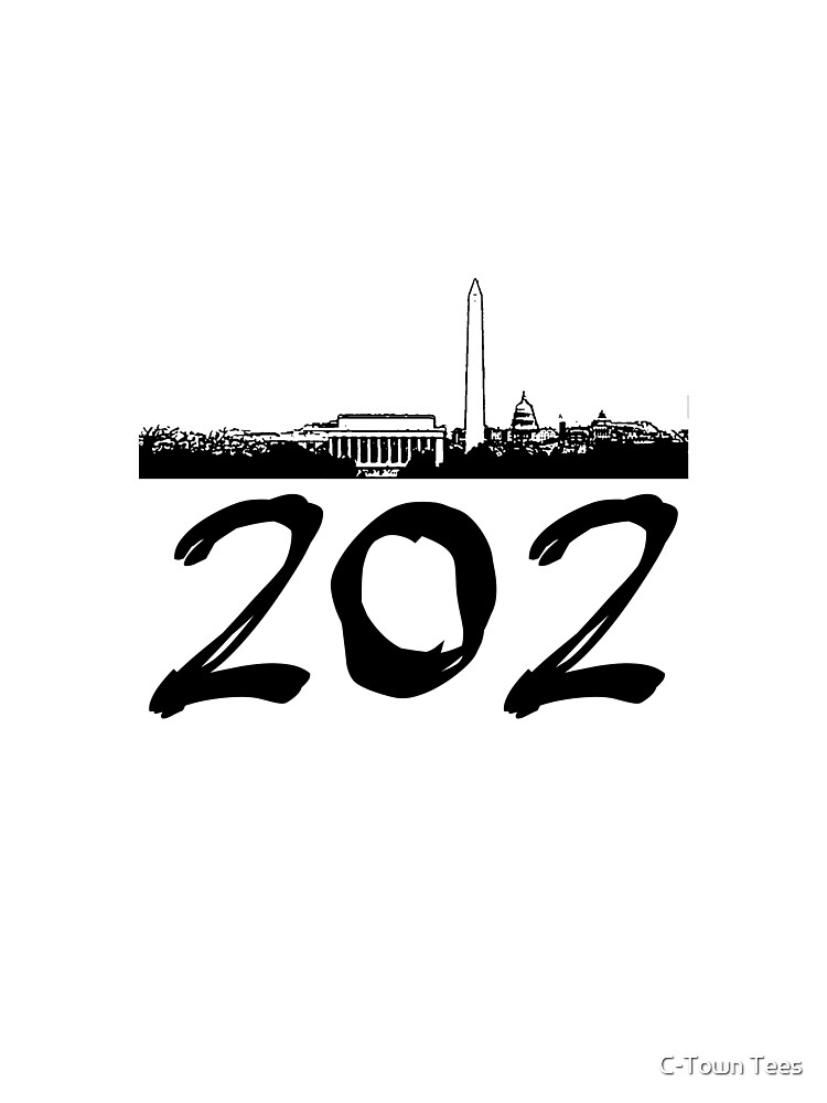 Washington D.C. - 202 (Black Logo) by Klay70