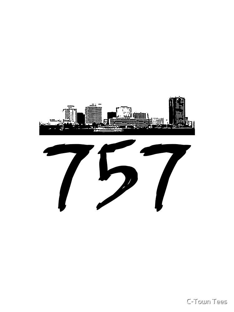 Virginia Beach - 757 (Black Logo) by Klay70