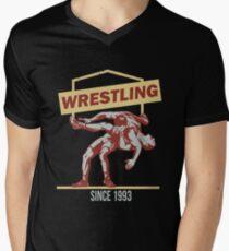 Wrestling since 1993 Men's V-Neck T-Shirt