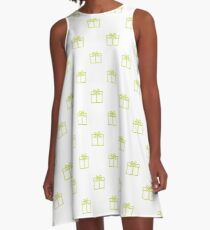 Seamless pattern with gifts boxes. A-Line Dress