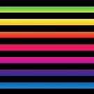Black Rainbow Horizontal Lines  by dkatesmith