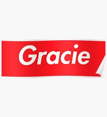 Hello My Name Is Gracie Name Tag Poster