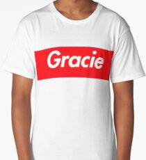 Hello My Name Is Gracie Name Tag Long T-Shirt