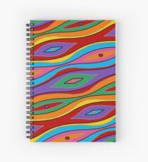Retro Art - Vivid Colour #9 Spiral Notebook
