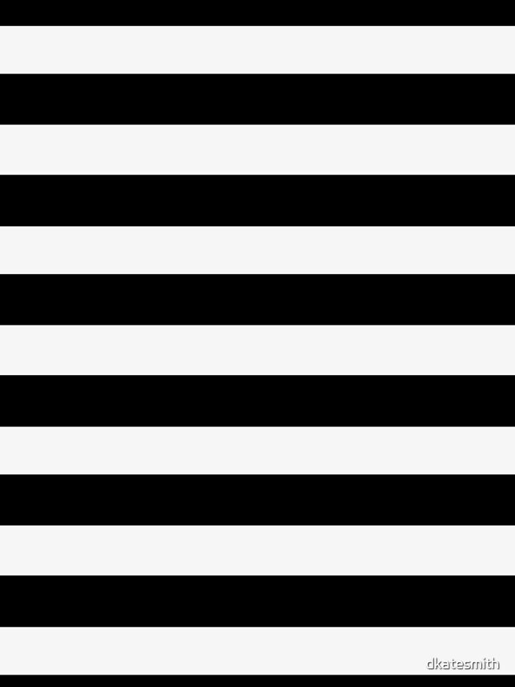 Black White Horizontal Lines by dkatesmith