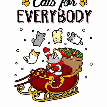 Cats For Everybody Funny Ugly Christmas Sweatshirt by KsuAnn