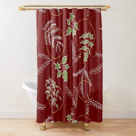 Classic Xmas #redbubble #xmas Shower Curtain