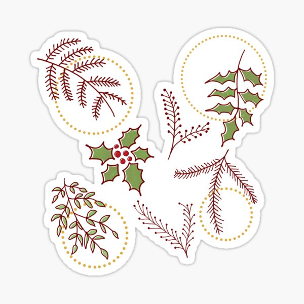 Classic Xmas #redbubble #xmas Sticker