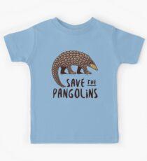 Gefährdeter Pangolin - Speichern Sie die Pangolins Kinder T-Shirt