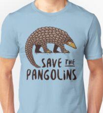 Gefährdeter Pangolin - Speichern Sie die Pangolins Slim Fit T-Shirt