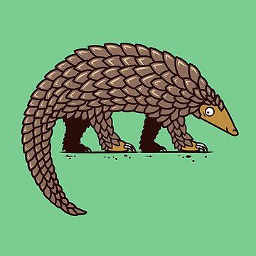 Endangered Pangolin - Pangolin Illustration by Bangtees